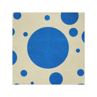 Lapis Scattered Spots on Stone Leather Texture Stretched Canvas Prints