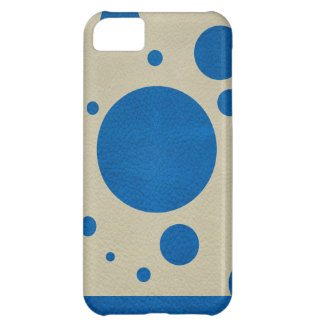 Lapis Scattered Spots on Stone Leather Texture Cover For iPhone 5C