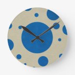 Lapis Scattered Spots on Stone Leather Texture Clocks
