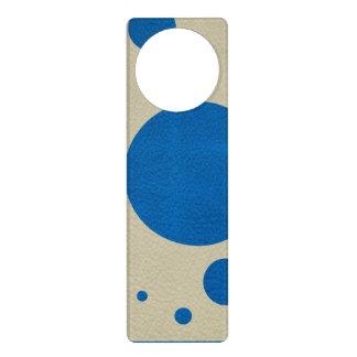 Lapis Scattered Spots on Stone Leather Texture Door Knob Hanger