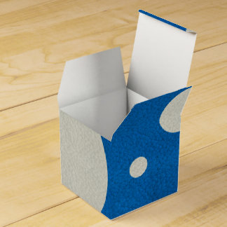 Lapis Scattered Spots on Stone Leather Texture Party Favor Boxes