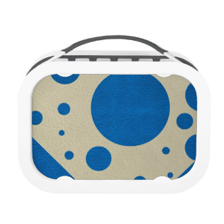 Lapis Scattered Spots on Stone Leather Texture Lunch Box