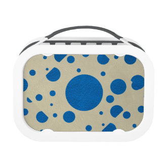 Lapis Scattered Spots on Stone Leather Texture Yubo Lunch Boxes