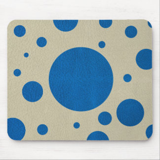 Lapis Scattered Spots on Stone leather texture Mouse Pad