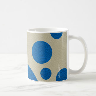 Lapis Scattered Spots on Stone Leather Texture Classic White Coffee Mug