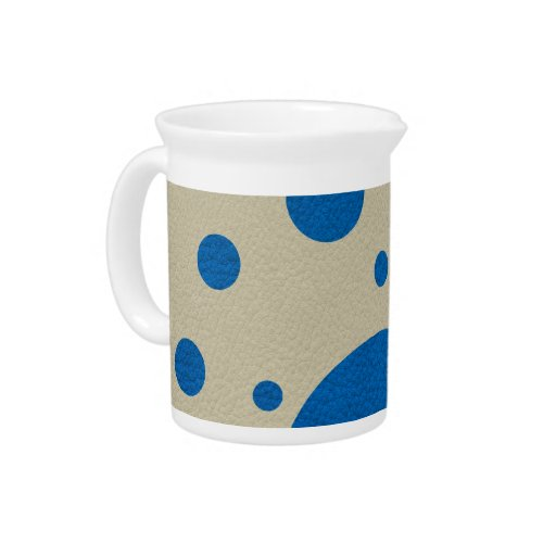 Lapis Scattered Spots on Stone Leather Texture Drink Pitchers