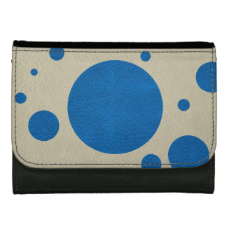 Lapis Scattered Spots on Stone Leather Texture Wallets