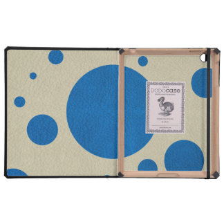 LapisBlue Scattered Spots on Stone Leather Texture Case For iPad