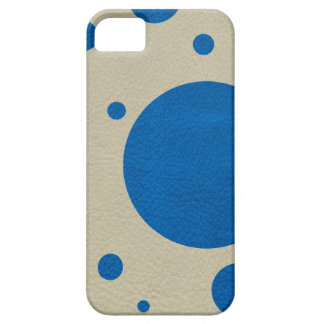 LapisBlue Scattered Spots on Stone Leather Texture iPhone 5 Covers