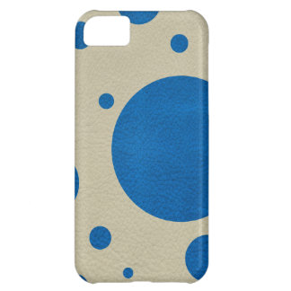 LapisBlue Scattered Spots on Stone Leather Texture iPhone 5C Cover