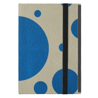 LapisBlue Scattered Spots on Stone Leather Texture Cover For iPad Mini