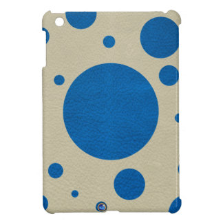 LapisBlue Scattered Spots on Stone Leather Texture iPad Mini Covers