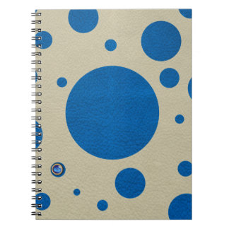 LapisBlue Scattered Spots on Stone Leather Texture Notebooks