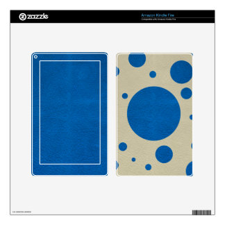 LapisBlue Scattered Spots on Stone Leather Texture Skins For Kindle Fire