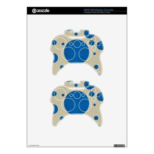 LapisBlue Scattered Spots on Stone Leather Texture Xbox 360 Controller Decal