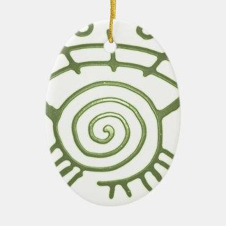 lapita adorno ovalado de cerámica