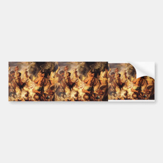 Lapiths and the Centaurs by Jacob Jordaens Bumper Stickers