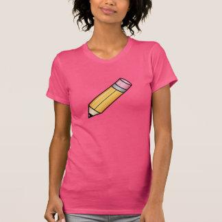 Lápiz amarillo lindo del dibujo animado camisetas