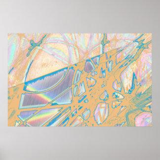 Lápiz coloreado extracto posters