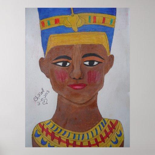 Lápiz coloreado Nefertiti de la reina Impresiones