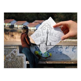 Lápiz contra la cámara - casera postal