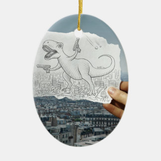 Lápiz contra la cámara - Dino Ornamento De Reyes Magos