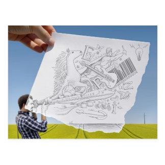 Lápiz contra la cámara - inspiración tarjetas postales