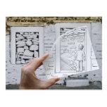Lápiz contra la cámara - sueño del niño tarjetas postales