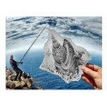Lápiz contra la cámara - tiburón tarjetas postales