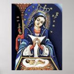 Lápiz de Virgen de la Altagracia Color Posters