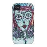 Lápiz del conejito y dibujo coloreados Darkmoon de Case-Mate iPhone 4 Carcasas