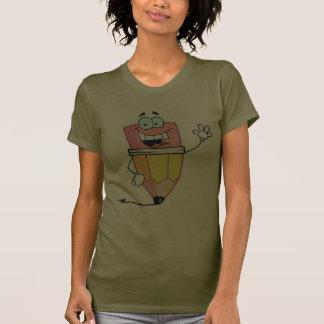Lápiz del dibujo animado para lápiz día el 30 de camisas