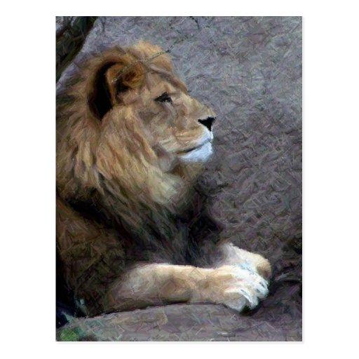 lápiz del león postales