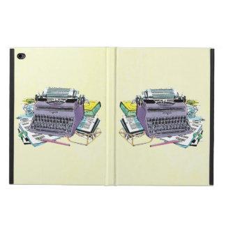 Lápiz del papel de máquina de escribir de las