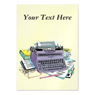 Lápiz del papel de máquina de escribir de las invitaciones magnéticas