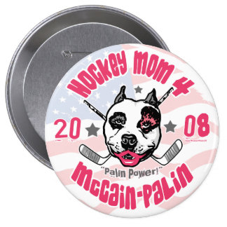 Lápiz labial 2 del pitbull de las mamáes del hocke pins