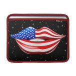 Lápiz labial de la bandera de los E.E.U.U. en las  Funda MacBook