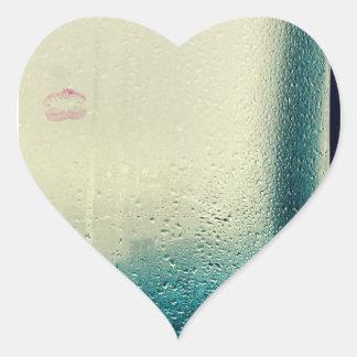 Lápiz labial pegatina en forma de corazón