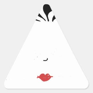 Lápiz labial pegatina triangular