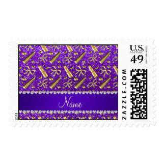 Lápiz labial púrpura del oro del brillo del añil sello