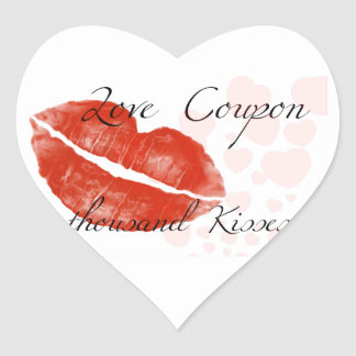 Lápiz labial rojo de la belleza con el hotgirl pegatina en forma de corazón