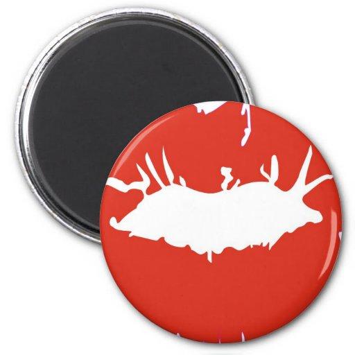 Lápiz labial rojo imán redondo 5 cm
