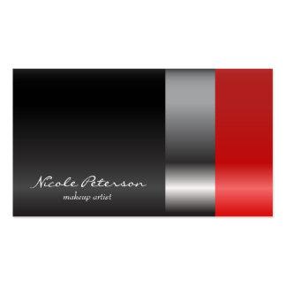 Lápiz labial rojo tarjetas de visita
