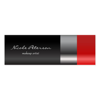 Lápiz labial rojo tarjetas de visita mini