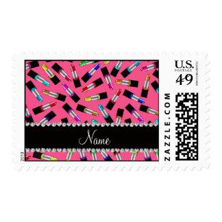 Lápiz labial rosado conocido personalizado del sellos