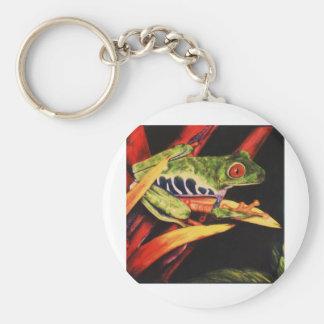 Lápiz observado rojo 1991 del color de la rana de  llavero redondo tipo pin