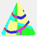 Lápiz W del poste Calcomanía Triangulo Personalizadas