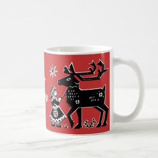 Lapland Girl Holds Reindeer Coffee Mug