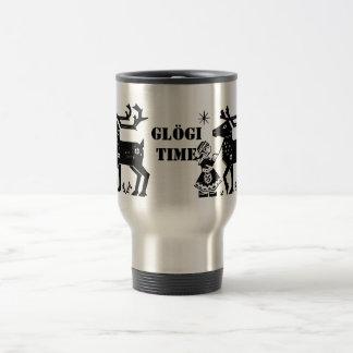 Lapland Girl Holds Reindeer Glögi Travel Mug