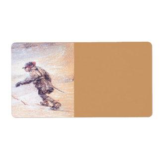 Laplanders in Snowstorm - Lappar i snostorm Custom Shipping Label